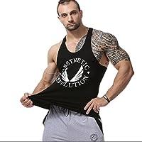 LZROL ベスト メンズ トレーニング 袖なし タンクトップ 超弾速乾 スポーツウェア ジム Tシャツ Uネック シンプル 下着 黒色
