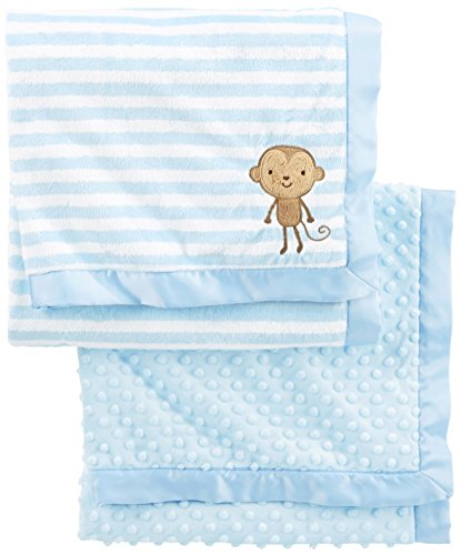 Simple Joys by Carter's Baby Boys' 2-Pack Plush Blankets, Blue