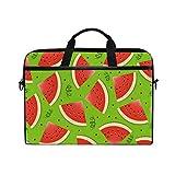 Watermelon Red Laptop Case Computer Shoulder Bag Notebook Tablet Crossbody Briefcase Messenger Sleeve Handbag with Shoulder Strap Handle for Women Men Girls Boys 14 15 inch