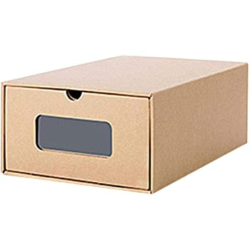 Ritapreaty Cajas de almacenamiento de cartón kraft para zapatos, con visor, ecológicas y plegables, cartón, -, 35x 28x 14cm: Amazon.es: Hogar