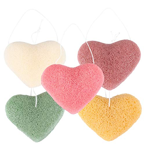 EXCEART 5 Unidades de Esponjas de Limpieza Facial para Eliminar La Forma Del Corazón