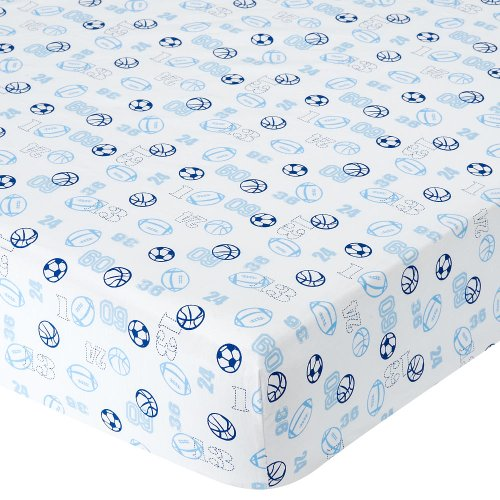 Babies R Us Percale Crib Sheet - Sports Numbers