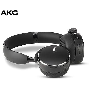 AKG Y500 On-Ear Foldable Wireless Bluetooth Headphones - Black (US Version) (Renewed)