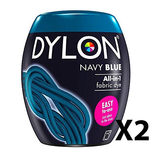 Dylon Maschinenfarbe, Pulver, Marineblau für alle Arten von Stoffen 2 blau
