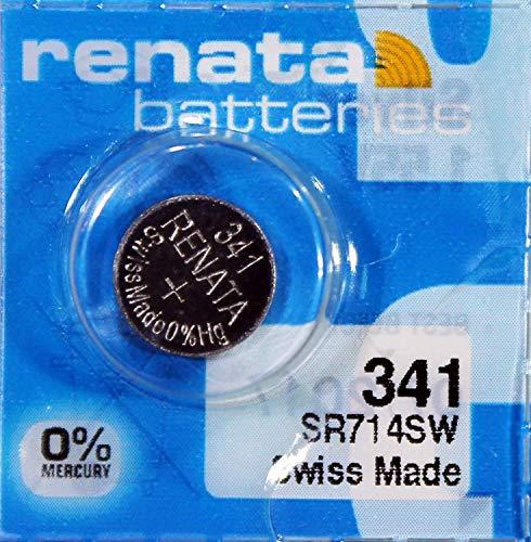 Uhrenbatterie Renata Swiss Made Renata 341 oder SR714SW 1.55V schnellen Versand (3 X 341 oder SR714SW)