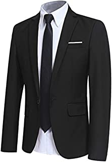 Allthemen Mens Casual Blazer Slim Fit Formal Business Suit Jackets One Button Single Breasted Tuxedo Jacket Smart Blazer