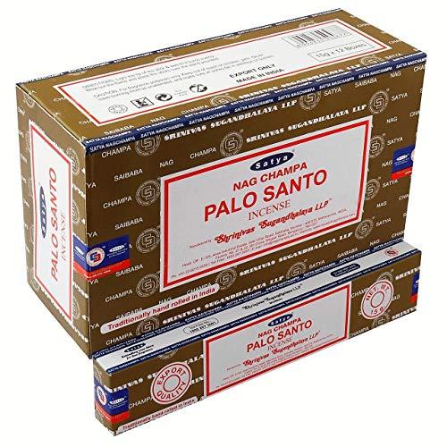 YesMandala Incienso Satya Nag Champa - Palo Santo - 12 Cajas x 15g -
