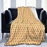 TARTINY Patrón de Dibujos Animados mínimo de Perros Basenji bebé y Huellas de Patas King (200x240cm) Manta de Franela Ligera y cálida Suave y cálida para Cama o sofá