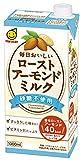 ★【タイムセール】マルサン 毎日おいしいローストアーモンドミルク 砂糖不使用 1000ml ×6本が1,580円!