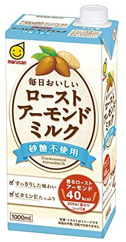 マルサン 毎日おいしいローストアーモンドミルク 砂糖不使用 1000ml ×6本