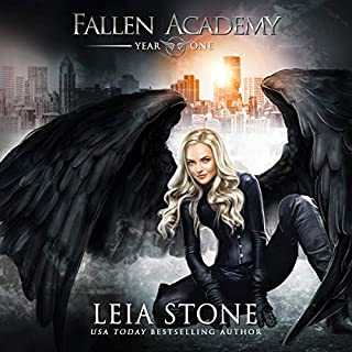 Fallen Academy: Year One                   Written by:                                                                                                                                 Leia Stone                               Narrated by:                                                                                                                                 Vanessa Moyen                      Length: 7 hrs and 19 mins     17 ratings     Overall 4.6