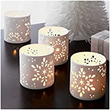 The Purple Tree Snowflake Christmas Tealight Holder - 1 pc (White), Snowflake tealight Holder, Christmas tealights, Christmas Gift, Christmas Lights