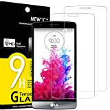 NEW'C 2 Unidades, Protector de Pantalla para LG G3 Mini, Antiarañazos, Antihuellas, Sin Burbujas, Dureza 9H, 0.33 mm Ultra Transparente, Vidrio Templado Ultra Resistente