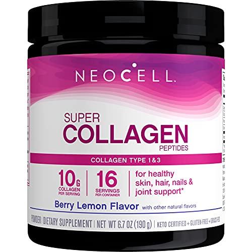 Neocell Súper Colágeno Tipo 1 y 3, Berry Limón, 190G
