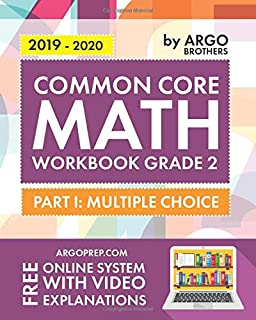 Argo Brothers Math Workbook, Grade 2: Common Core Multiple Choice (2nd Grade)