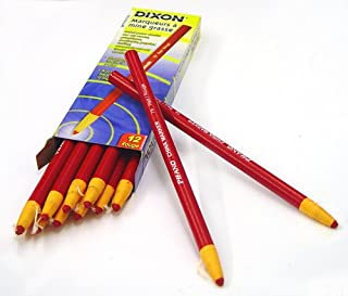 Dixon 00079 China Markers, Red, 12-Pack