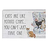 Simply Said, INC Small Talk Sign - Cats are Like Potato Chips, You Can't Just Have One