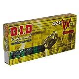 DID Cadena 428VX, 120eslabones (X Anillo de oro), abierto con clip Candado