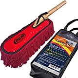 OCM Brand Premium Extra Large Car Duster with Durable Solid Wood Handle Includes Storage Cover - Professional Detailers Top Choice