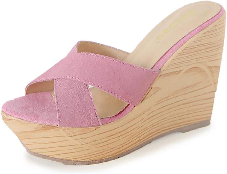 Summer Cross Scrub High Paragraph shoes, Women's Beach Sandals Retro Elegant Outdoor Stylish Vacation Wedge Flip-Flops