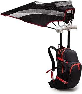 YWAWJ Ideal para Deportes al Aire Libre Mochila de Senderismo Mochila Trekking Viaje Montaña Acampada Morral Camping Aire Libre Protector Solar Mochila refrescante Paraguas Azul (Color : Black)