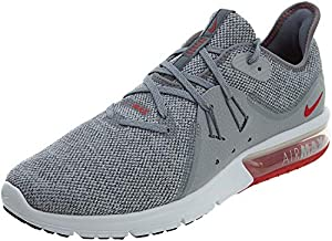 Nike Air Max Sequent 3 Mens Running Trainers 921694 Sneakers Shoes (UK 6 US 7 EU 40, Cool Grey University red 060)