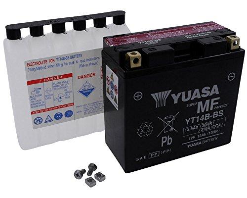 YUASA batterij YT 14 B-BS onderhoudsvrij (AGM) Prijs incl. wettelijke garantie op batterijen € 7,50 incl. BTW
