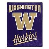 NORTHWEST NCAA Washington Huskies Raschel Throw Blanket, 50' x 60', Alumni