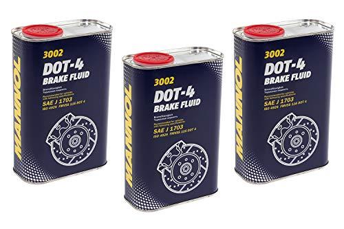 MANNOL Bremsflüssigkeit DOT-4 SAE J 1703 3 Stück á 1 Liter