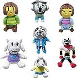 huobeibei 7 Pcs Undertale Plush Toys Doll 20-30cm Undertale Sans Papyrus Asriel Toriel Temmie Chara Frisk Stuffed Plush Toys Kids