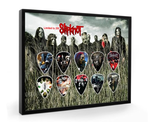 We Love Guitars Slipknot L200 Gitarre Plektrum Framed Gerahmt Display Gitarren Picks