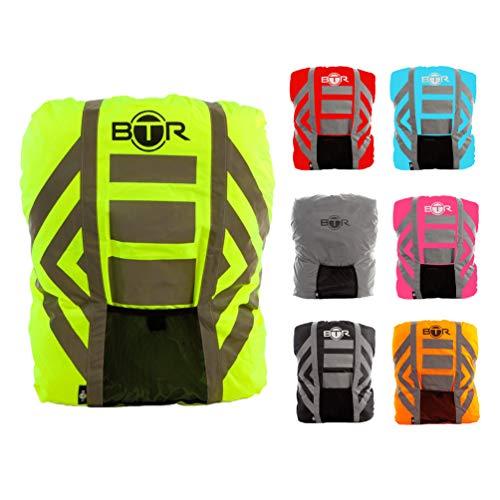 BTR Regenschutz Rucksack 100% Wasserfester Rucksack-überzug, Rucksack-schutz Für Schlechtes Licht / Dunkelheit. Bleiben Sie Sichtbar & Trocken