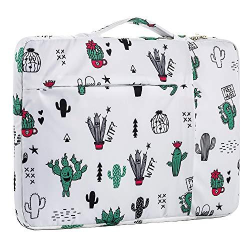 15.6 Inch Laptop Sleeve Case Computer Bag,360° Protective Leather Waterproof Laptop Shoulder Bag,Handbag for Most Popular 14'-15.6' Notebooks