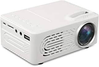 LED Projector - 7000 Lumens 3D 1080P Full HD Mini Portable Home Entertainment Projector, Movie Projectors, Brightness Video Projector, Home Entertainment - Shipped from US (❤ White)