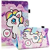 Galaxy Tab S 8.4 Case, Dteck Slim Fit PU Leather Folio Stand Wallet Case with [Stylus Slot] Protective Cover for Samsung Galaxy Tab S 8.4 inch Tablet 2014 (SM-T700/SM-T705), Little Pony