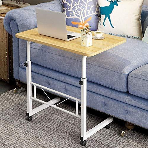 Sidobord för bärbara datorer över sängen på hjul, höjdjusterbara, 360 & deg;Vridbar medicinsk bärbar överbäddssäng, soffbord för bärbar soffa för sjukhus och hemmabruk W (storlek, 60x40cm),