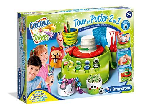 Clementoni- Créateur De Talents - Tour De Potier 2 En 1-Avec Chargeur, Multicolor (52312)