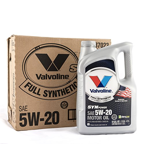 Valvoline SynPower 5W-20 Full Synthetic Motor Oil - 5qt (Case of 3) (787023-3PK)