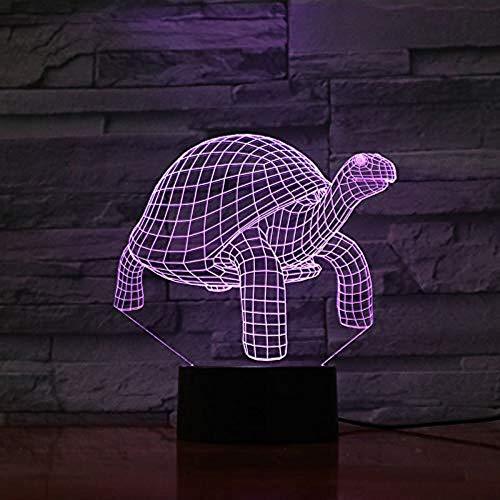 3D Turtle 7 Couleurs Lampe de Table Led Veilleuse pour Enfants Cadeau Home Decor Nouveauté Éclairage