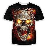 LIUBAOBEI 3D Camisetas para Hombre,Camiseta con Estampado De Calavera Esqueleto para Hombre, Moda De Verano, Manga Corta, Cuello Redondo En 3D, Tops para Hombre, Manga Corta, Hip Hop, Streetwear-XXL