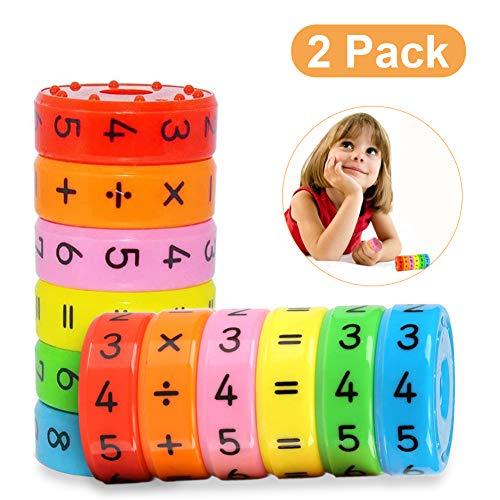 Sunshine smile Mathematik Lernspielzeug, Rechnen Lernen Spielzeug, Mathematik Spielzeug, Mathe Lernspielzeug, Mathe Spielzeug für Kinder, Rechenrolle Lernspielzeug