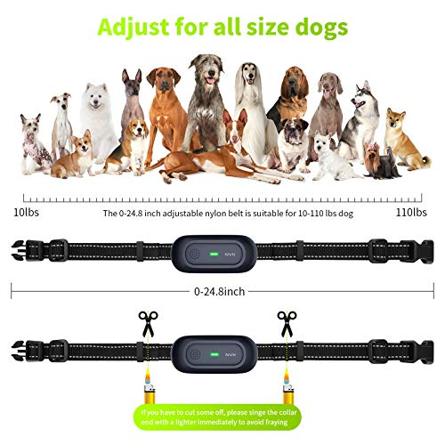 NVK Shock Collars for Dogs with Remote - Rechargeable Dog Training Collar with 3 Modes, Beep, Vibration and Shock, Waterproof Collar, 1600Ft Remote Range, Adjustable Shock Levels