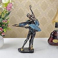 装飾品の彫刻ヴィンテージバレエダンサー愛好家の彫刻手作りの樹脂バレリーナ像の装飾アートとクラフト現在の装飾品の家具