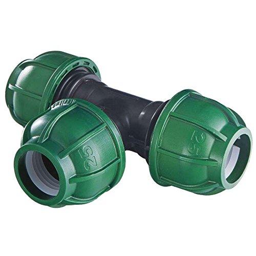 GF 00552 3-weg verbindingsstuk, 25 mm, groen
