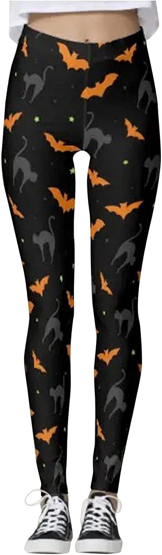 Women's Yoga Legging Halloween Running Leggings Bat Black cat Pu