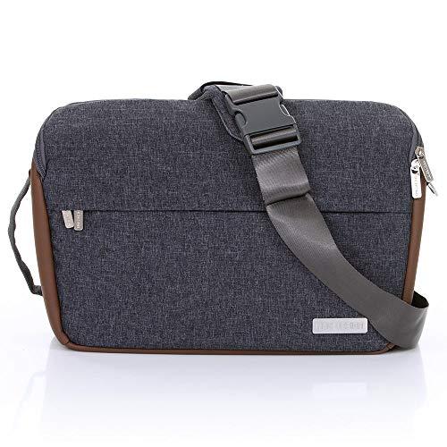 ABC Design Umhängetasche Slide - Messenger Bag/Wickeltasche mit Schultergurt und Reißverschlussfach - Street