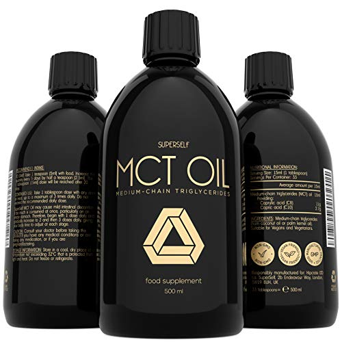 MCT Oil 500ml – High Potency C8 & C10 MCT Oil - Premium Keto Diet Supplement - Perfect for Bulletproof Coffee - Boosts Ketones - Suitable for Ketogenic, Paleo, Vegan & Low Carb Diet