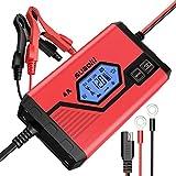 Suaoki - Chargeur de Batterie pour Voiture 4 Ampères 6/12V, Mainteneur Intelligent...