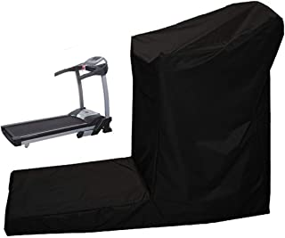 Black Treadmill Cover Sports Running Machine Protective Folding Cover Dustproof Cover for Outside Rain & Sunshine Resistance