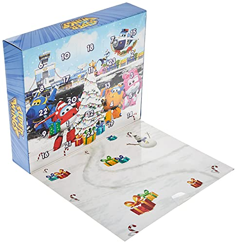 Super Wings - Advent Calendar with 24 Gifts   Countdown Calendar with Exclusive Characters & Accessories  Fun Preschool Toy for 3 4 5 Year Old Boys and Girls   Ideal for Holiday Celebrations